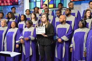 "Toronto Mass Choir getting ready for a ""take""."
