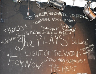 List of new plays written in 24 hours. Photo by Burke Campbell